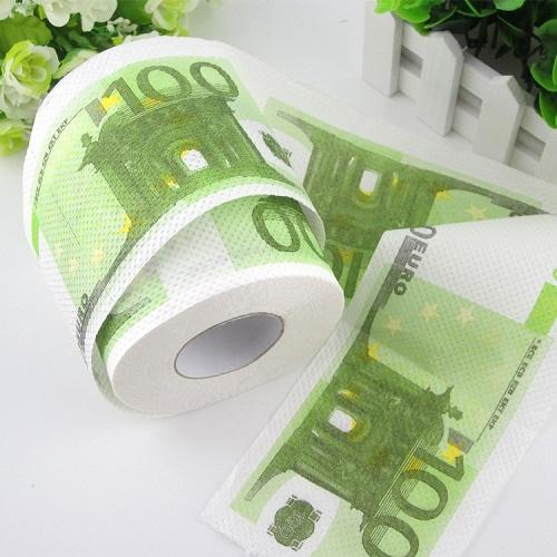 Rola hartie igienica model 100 euro (Valmy Shop)