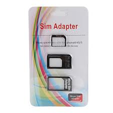 Set 3 adaptoare cartela SIM - BONUS agrafa (Valmy Shop)