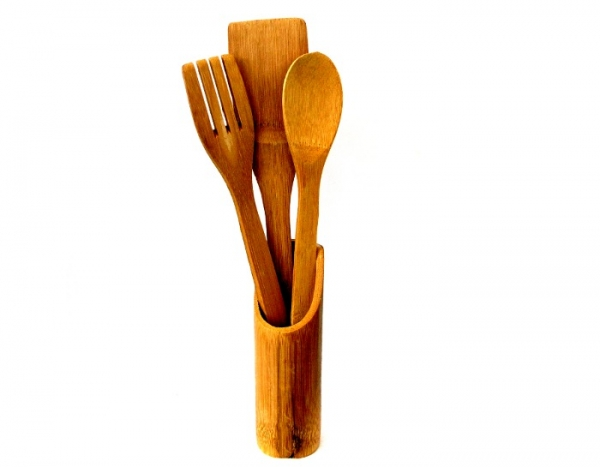 Set tacamuri din bambus (Cel mai mic pret)