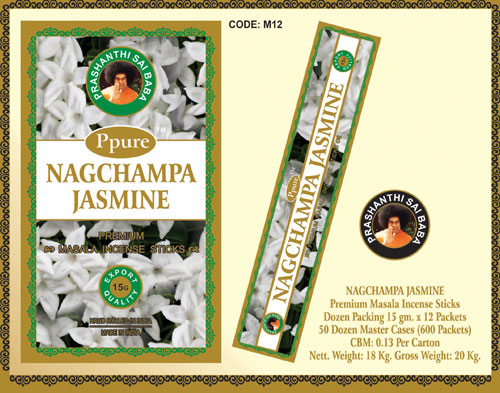 JASMIN-Ppure Nagchampa -Betisoare Parfumate Premium (Valmy)